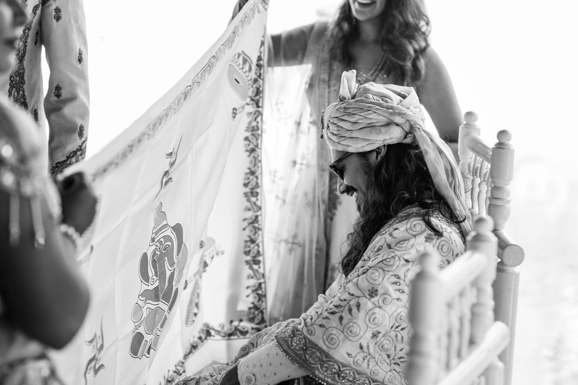 Euridge Manor, Cotswolds, Indian groom waiting, Asian Wedding Photography