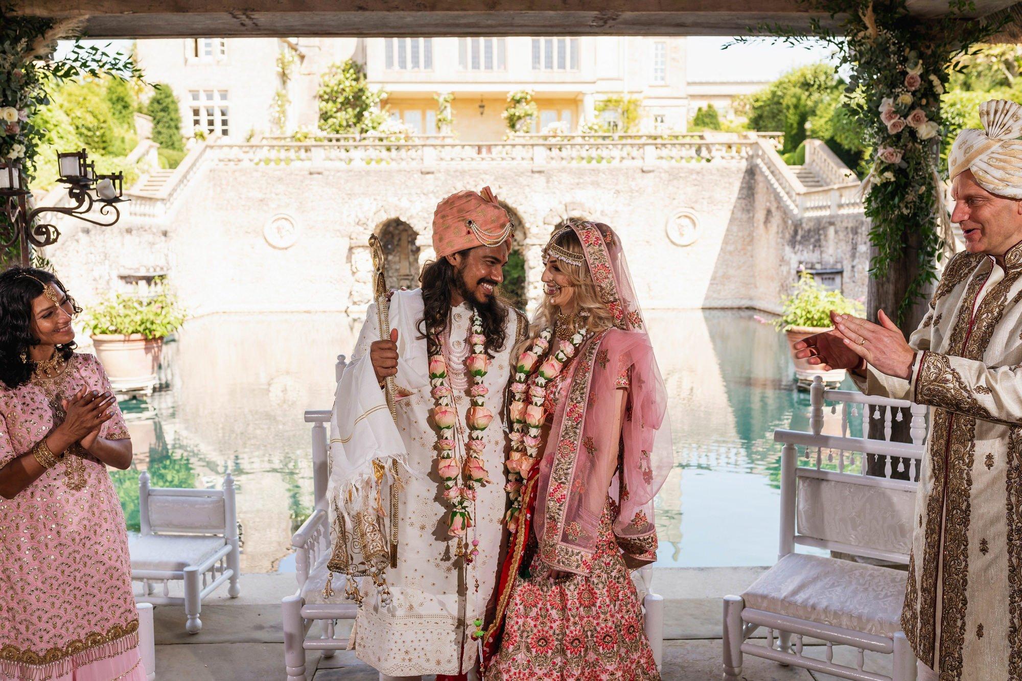 Euridge Manor, Cotswolds, Hindu wedding ceremony, just married, Asian Wedding Photography