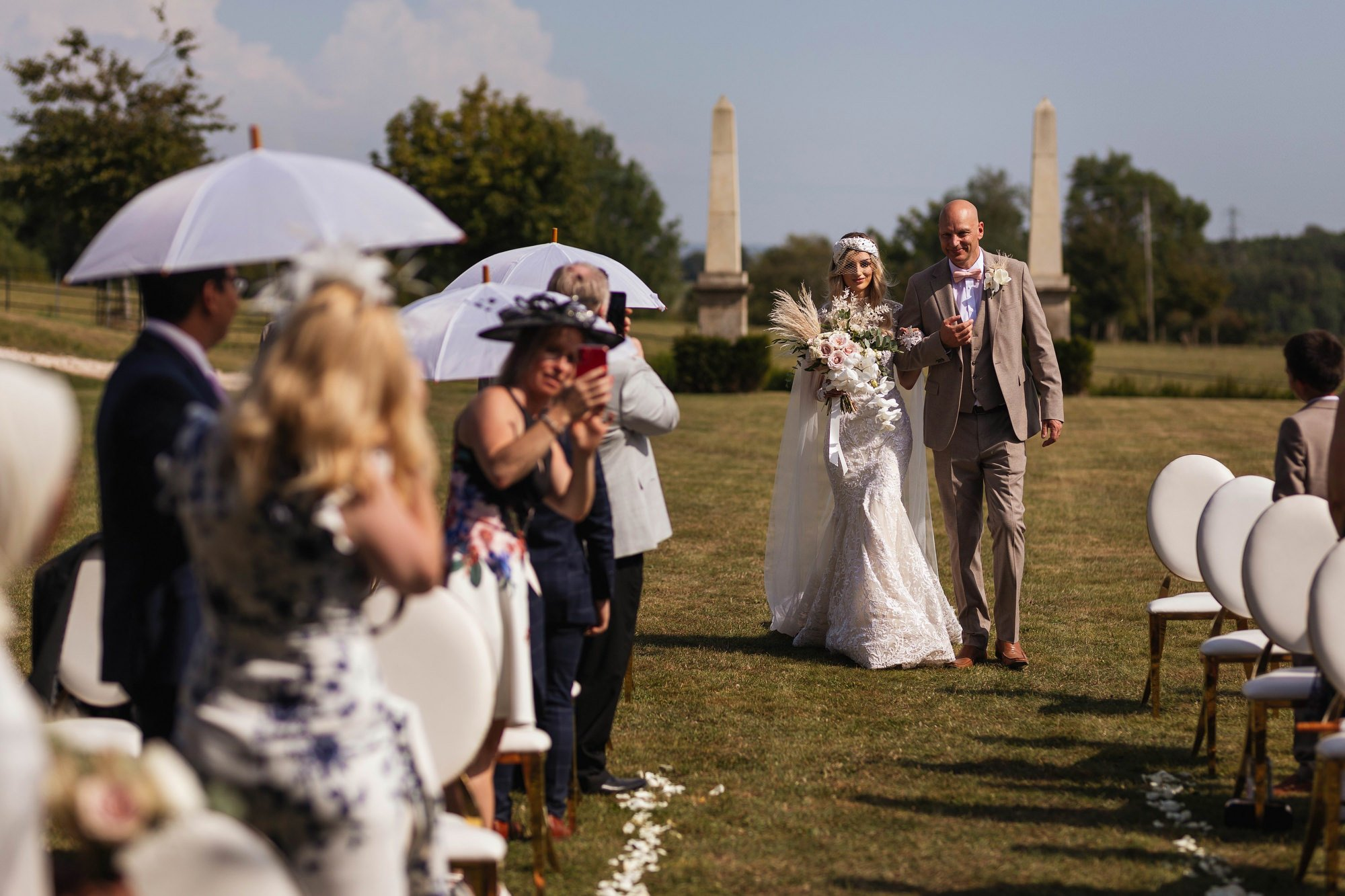 Euridge Manor, Cotswolds, civil ceremony, bride and father, Cotswolds wedding photographer