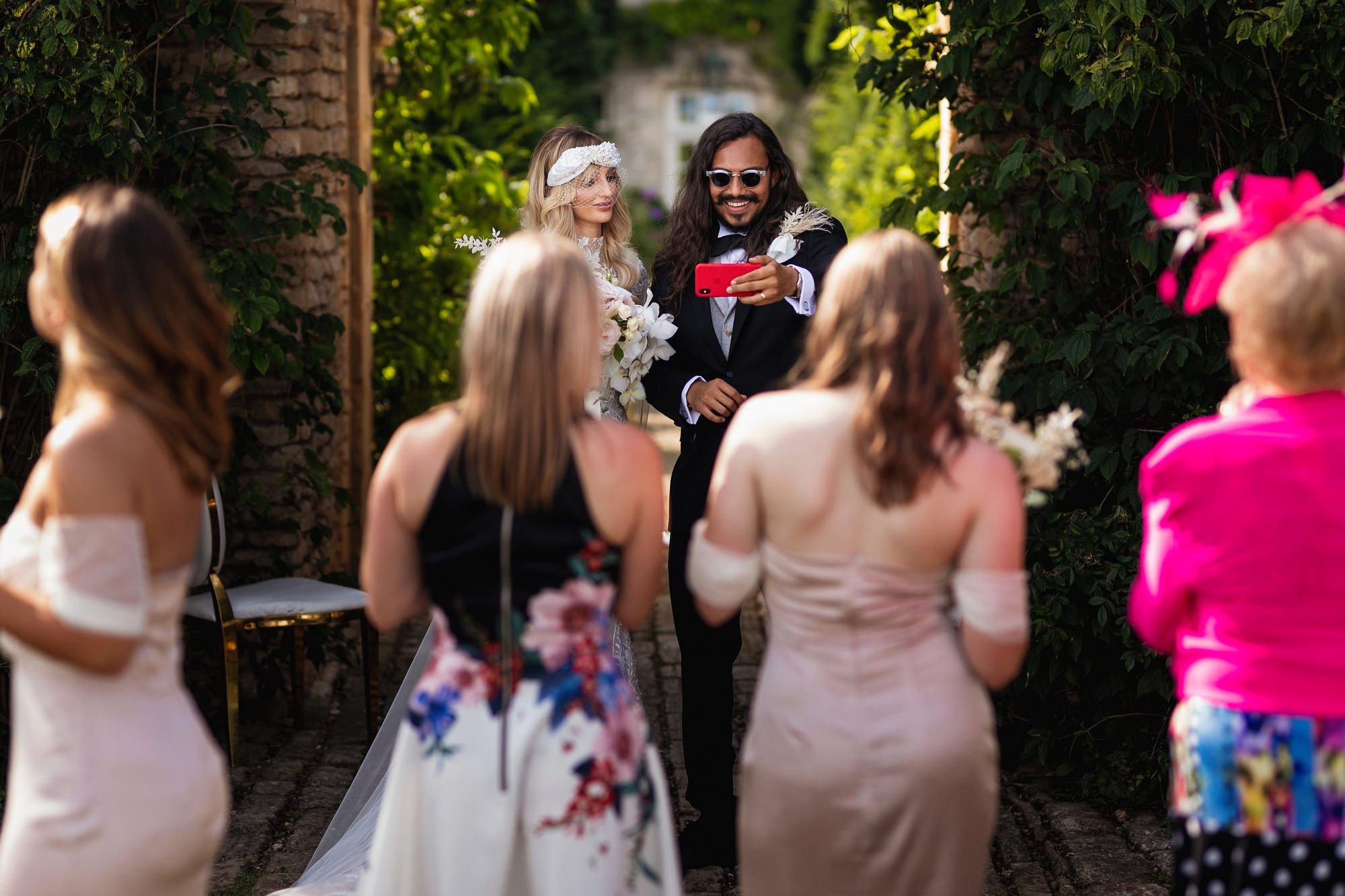 Euridge Manor, Cotswolds, civil ceremony, bride and groom, live stream, Cotswolds wedding photographer