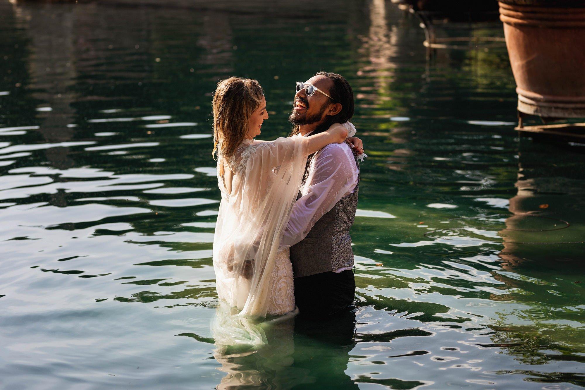 Euridge Manor, Cotswolds, paddle boat, lake, trash the dress, Cotswolds wedding photographer