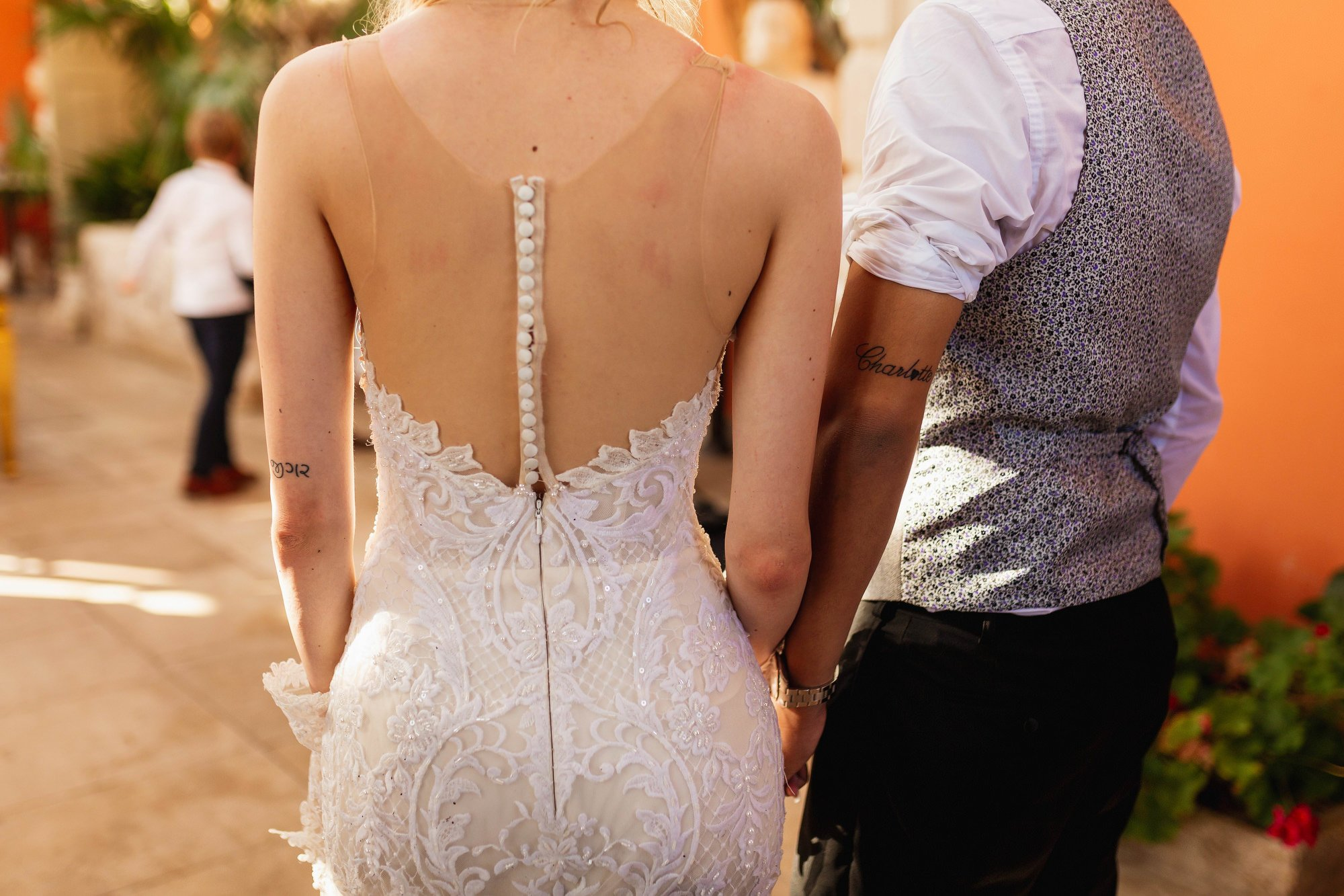 Euridge Manor, Cotswolds, bride and groom, matching tattoos, Cotswolds wedding photographer