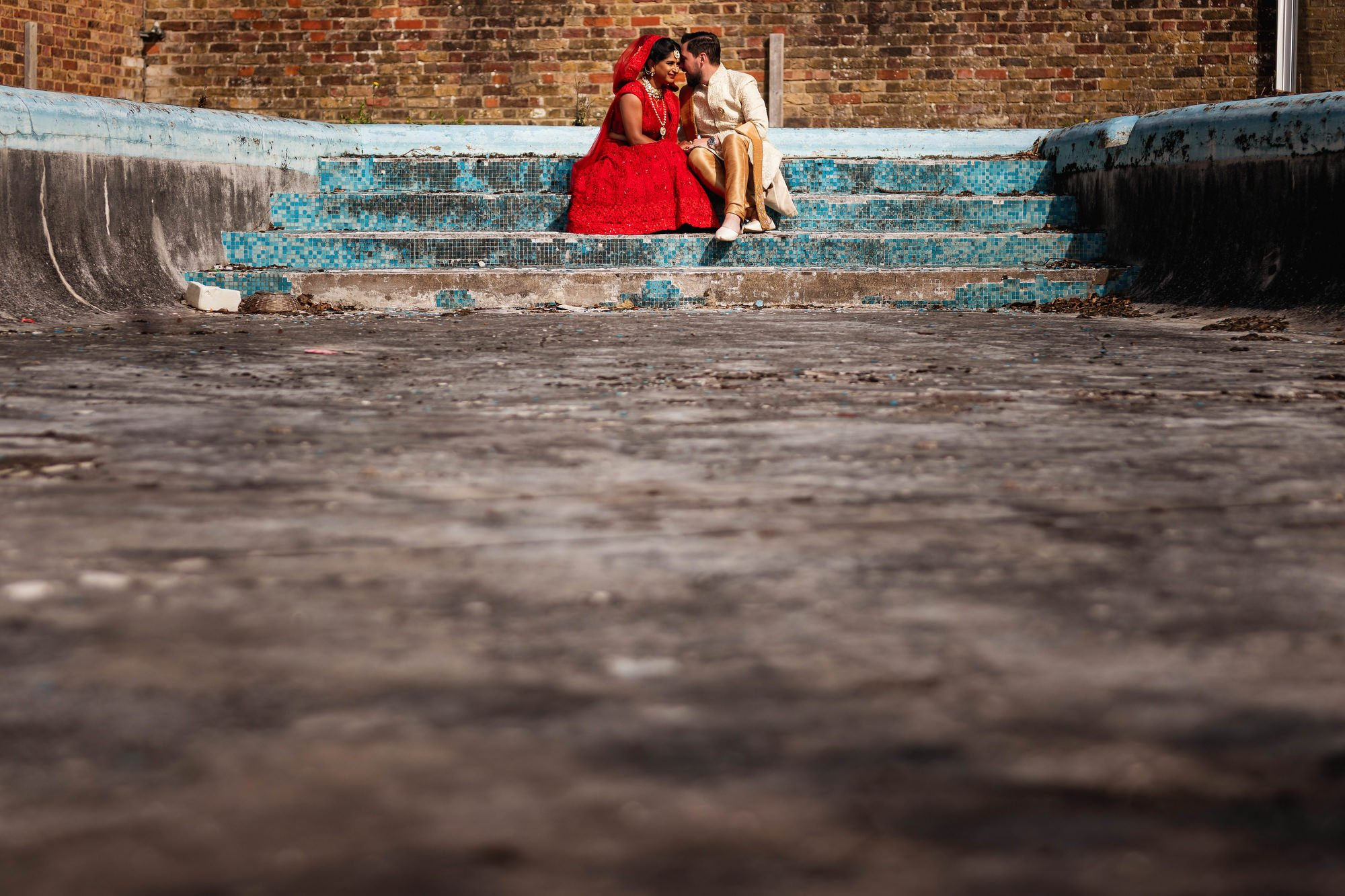 Shree Swaminarayan Temple, Stanmore, London, Bride and groom portraits