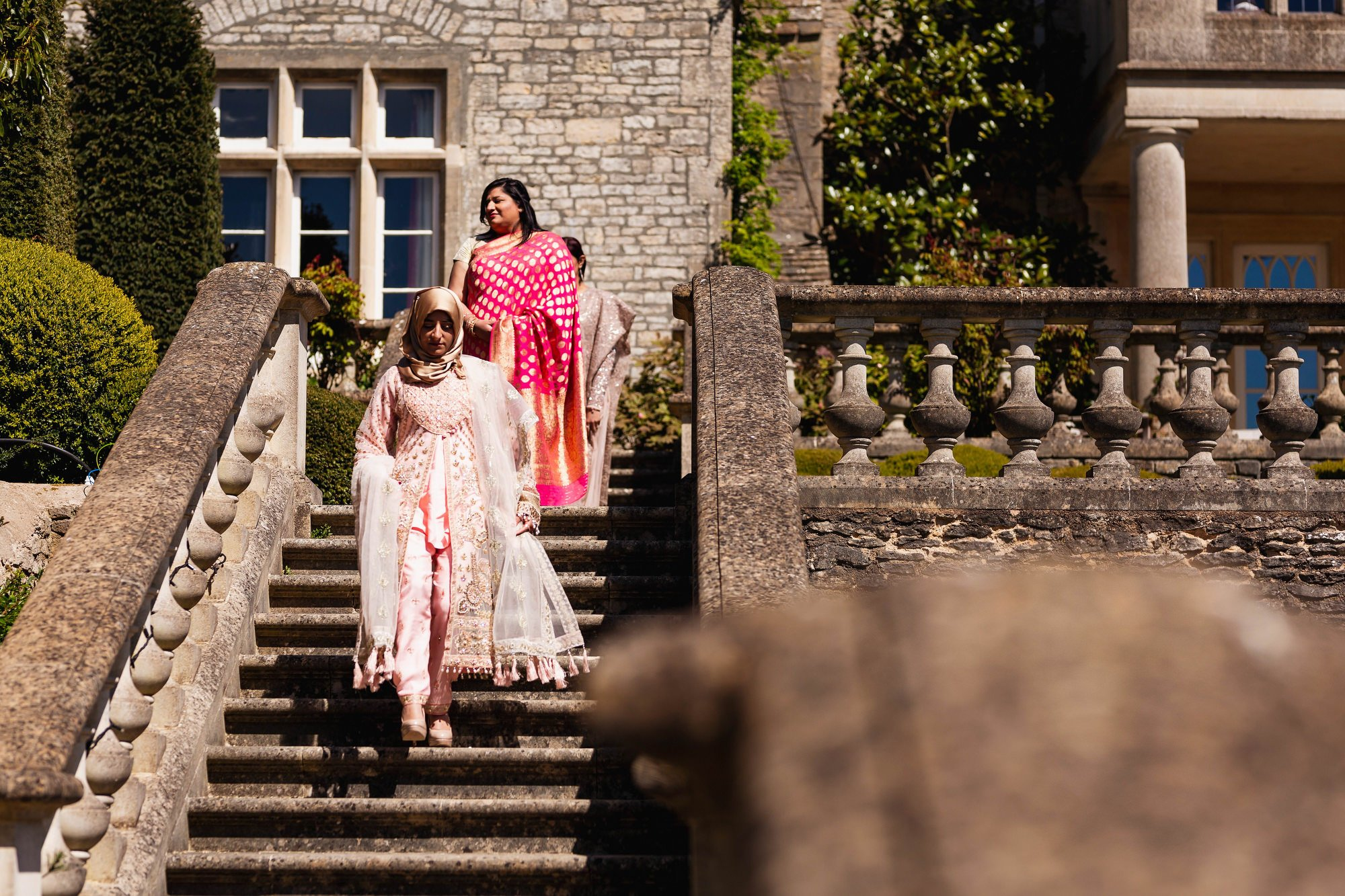 Indian wedding, bridesmaids, Euridge Manor, Cotswolds, Asian wedding photographer