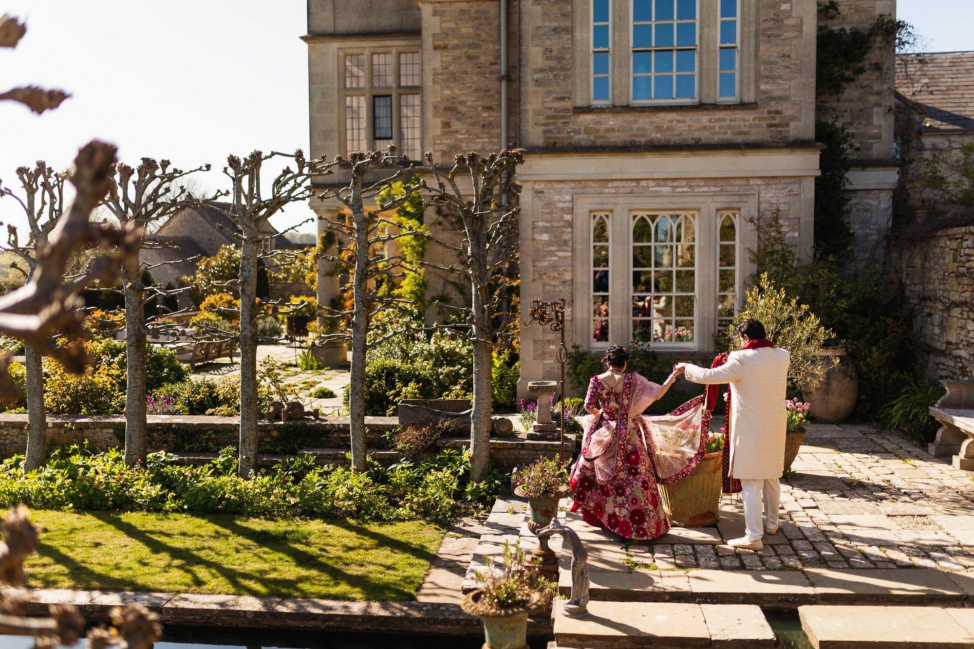 Indian wedding, couples portraits, Euridge Manor, Cotswolds, Asian wedding photographer