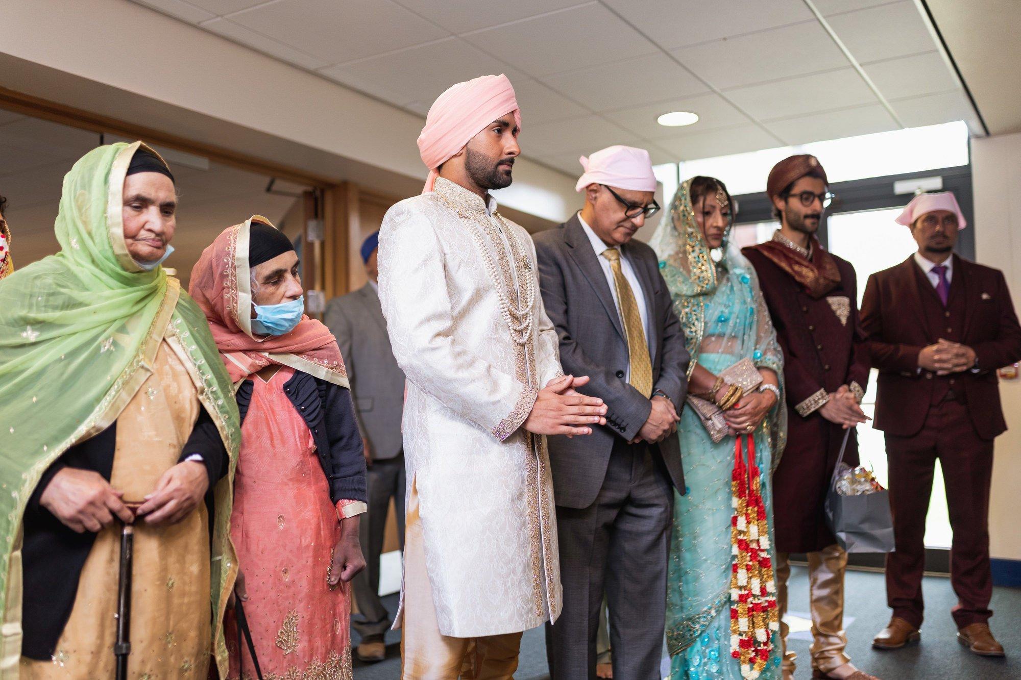 Guru Nanak Sikh Academy, Milni ceremony, London, ceremony, Sikh wedding photographer