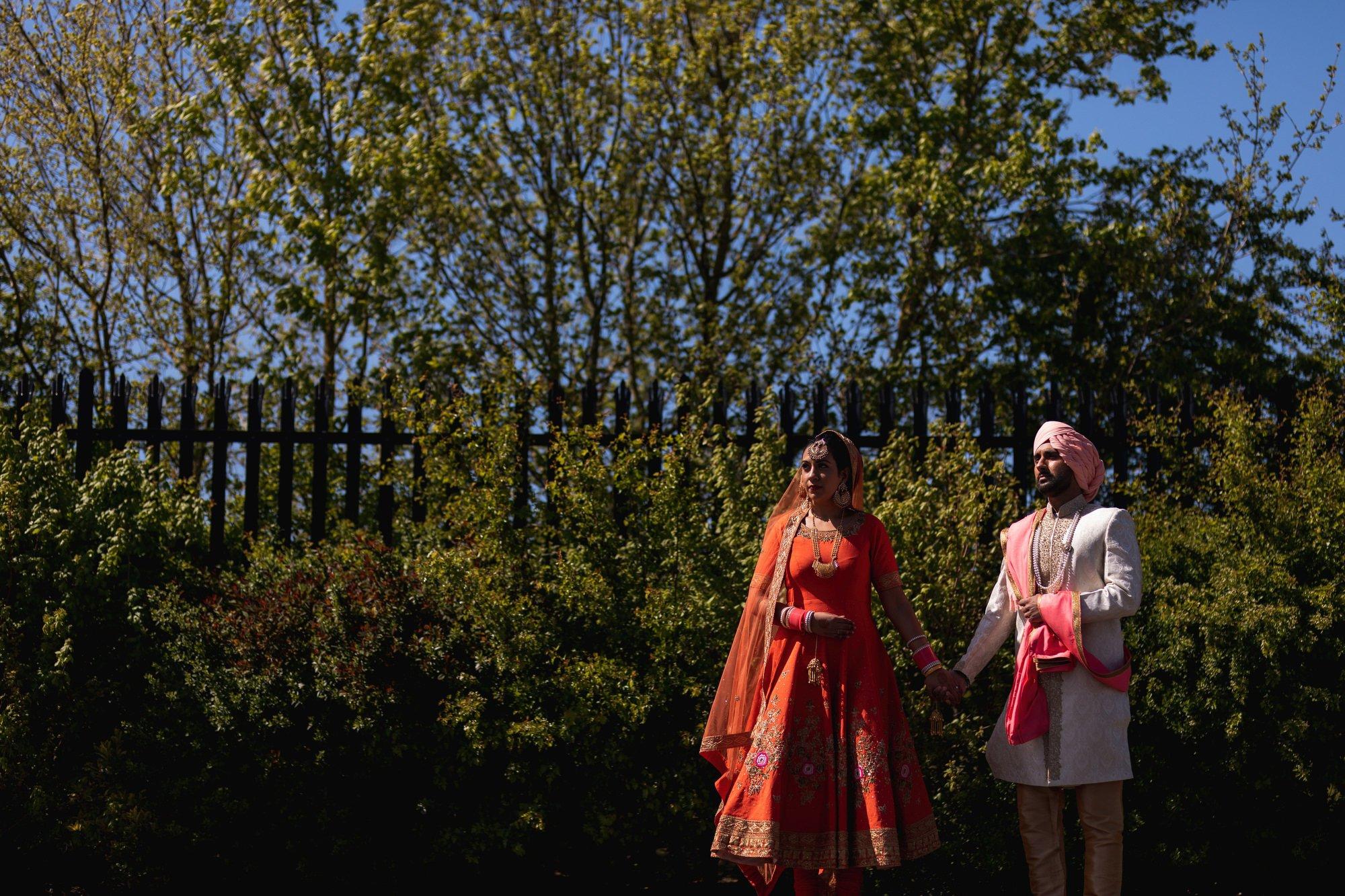 Guru Nanak Sikh Academy, London, couples portraits, Sikh wedding photographer